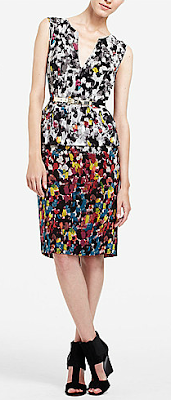 Painterly Dot Peplum Dress
