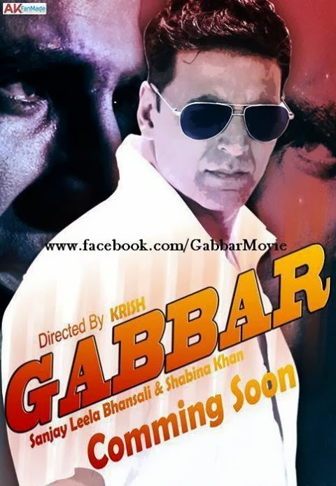 Cast and crew of Gabbar (2014) Bollywood Movie wiki, poster, Trailer, star Akshay Kumar, Shraddha Kapoor, Amala Paul, Prakash Raj, Sonu Sood Movie release date August 15, 2014