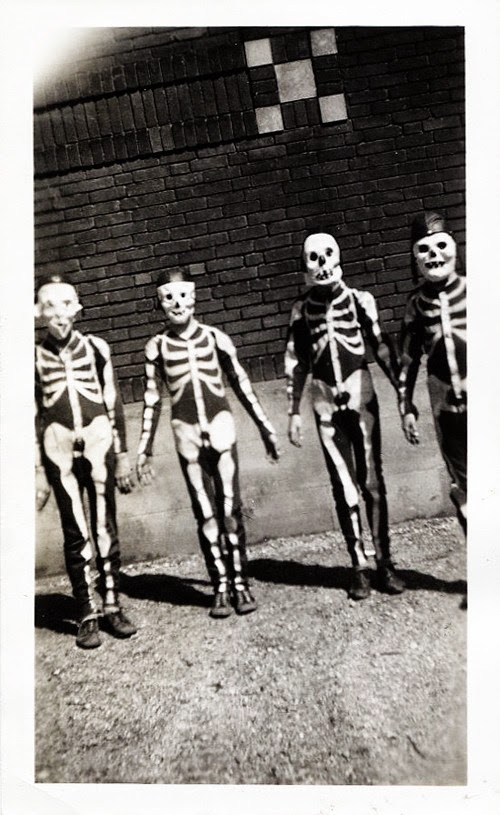 Kids on Halloween c. 1950s