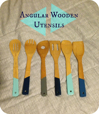 all you need is spray paint wooden utensils 3m painter 39 s tape. Black Bedroom Furniture Sets. Home Design Ideas