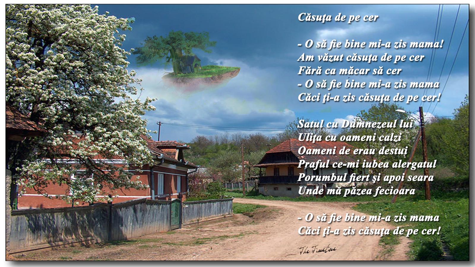 casuta de pe cer rai bine mama satul ulita Dumnezeu Credinta Ingeri Maria Teodorescu Bahnareanu Wrinkles on my Timeline