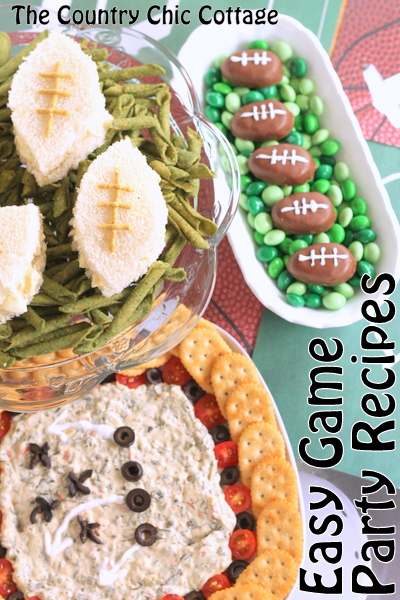 Big Game Party Recipes -- super simple ideas for your big game party. All of these recipes can be made in just minutes.