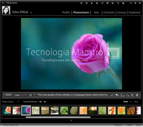 Administrar la cuenta de Flickr desde Windows