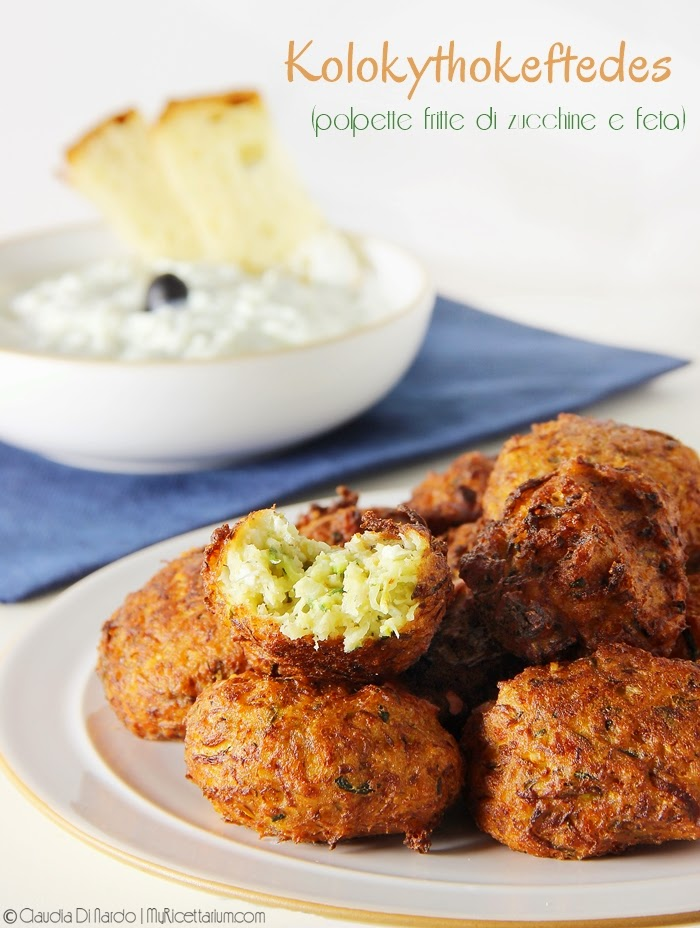 Kolokythokeftedes (polpette fritte di zucchine e feta)