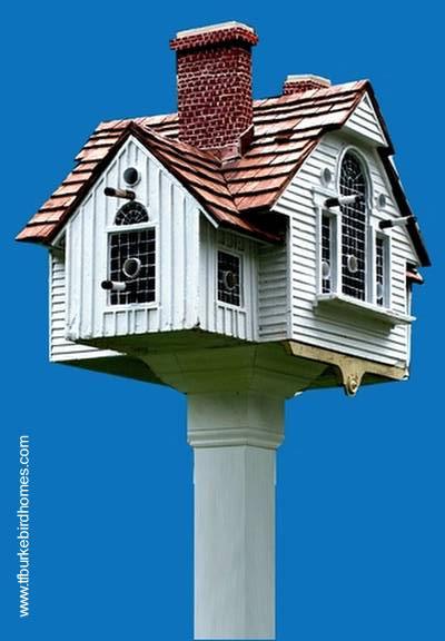 Casa de pájaros copia la forma y detalles de una vivienda real