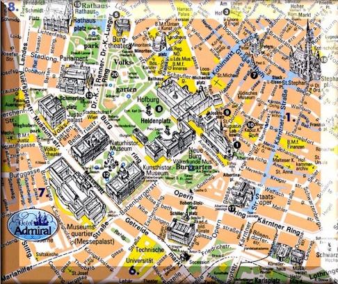 Map of cities Map of Vienna