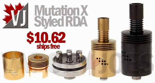Mutation X Styled Rebuildable Drippers in Gold & Black Finishes