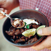 Goat Chili with Eye of the Goat Beans