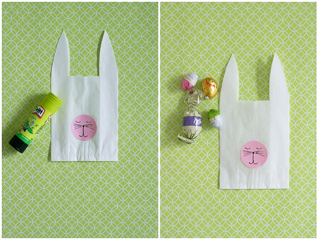 Oster DIY, Ostergeschenk, Osterbasteln, Ostertütchen, kleines Geschenk für Erzieherinnen, Mitbringsel, basteln, Butterbrottüten