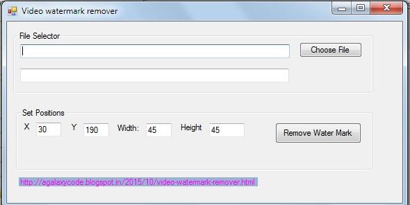 Freeware Free Video Watermark Removal Tool