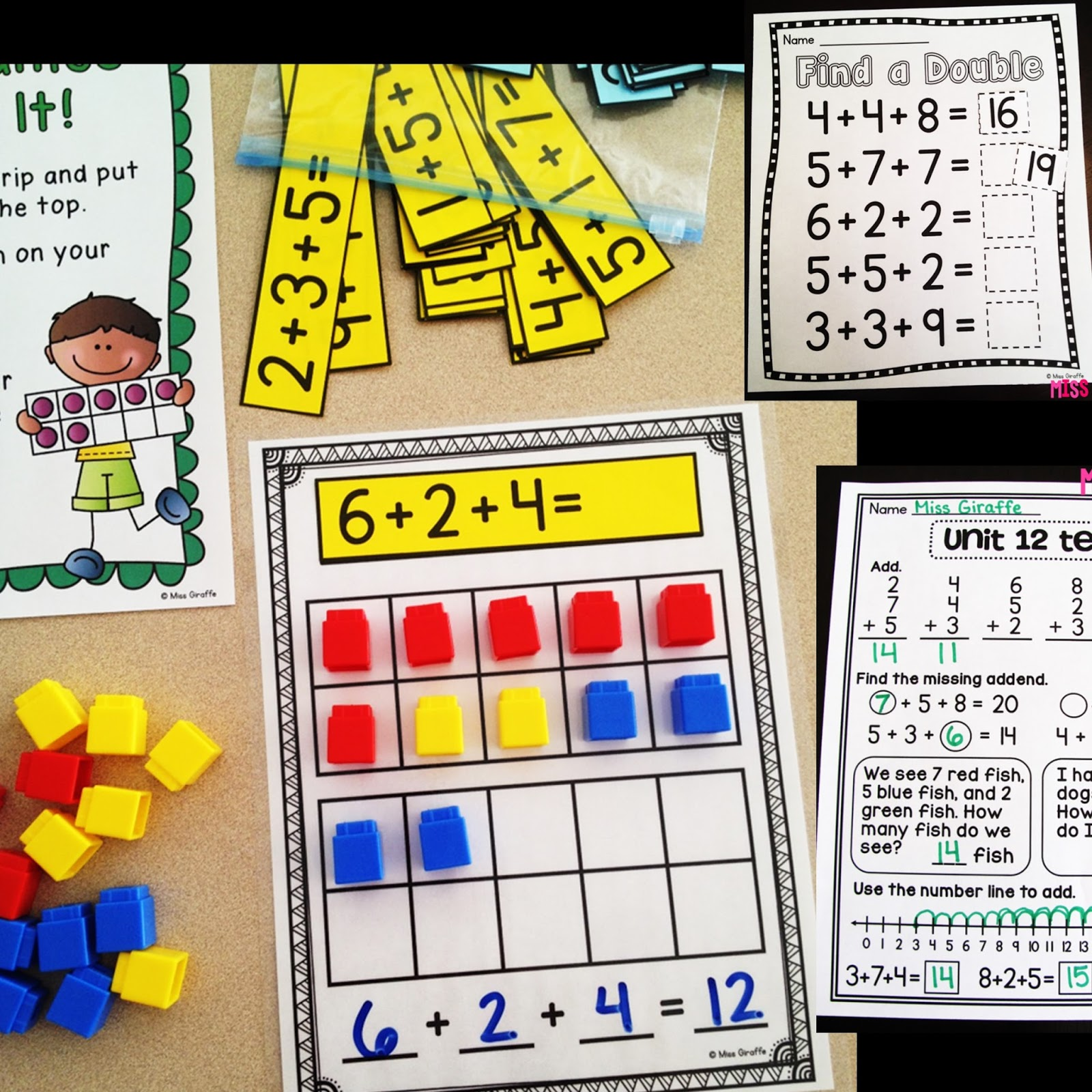 Math games for first grade pinterest number sense for for Addition ideas