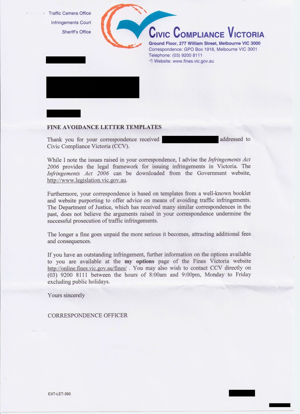 Corporate Australia Sheriffs office response template letter – Oath of Office Template