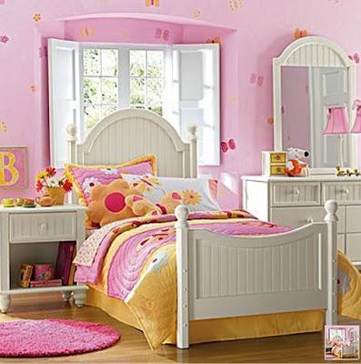 Dormitorio rosa y blanco para ni as dormitorios colores - Habitaciones para nina ...
