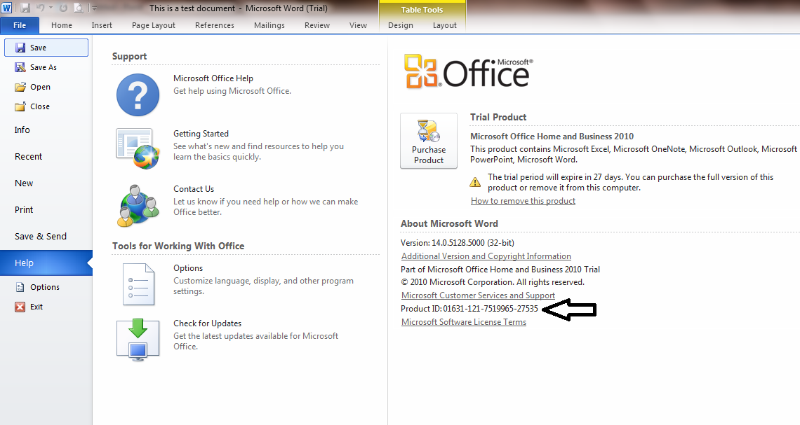 how to find the product key for microsoft office 2010 already installed