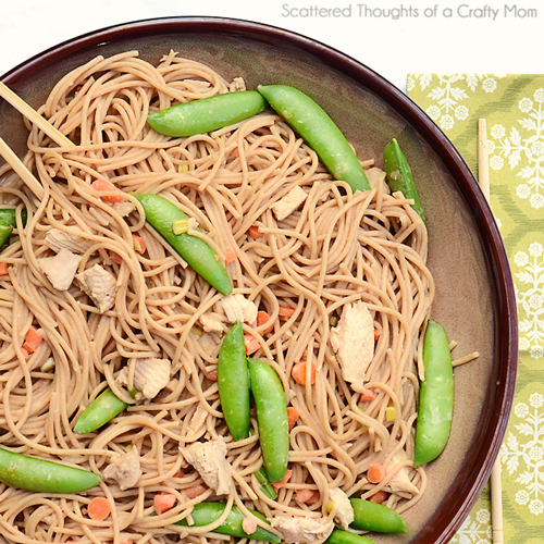 Peanut Sesame Noodles | Scattered Thoughts of a Crafty Mom