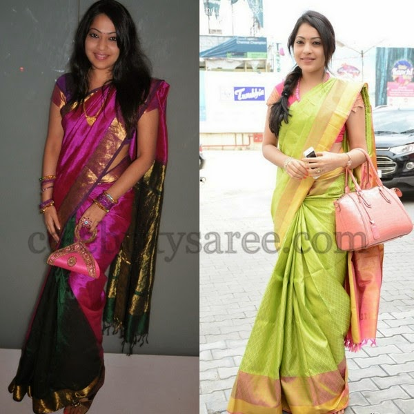 Ramya in Contemporary Silk Sarees