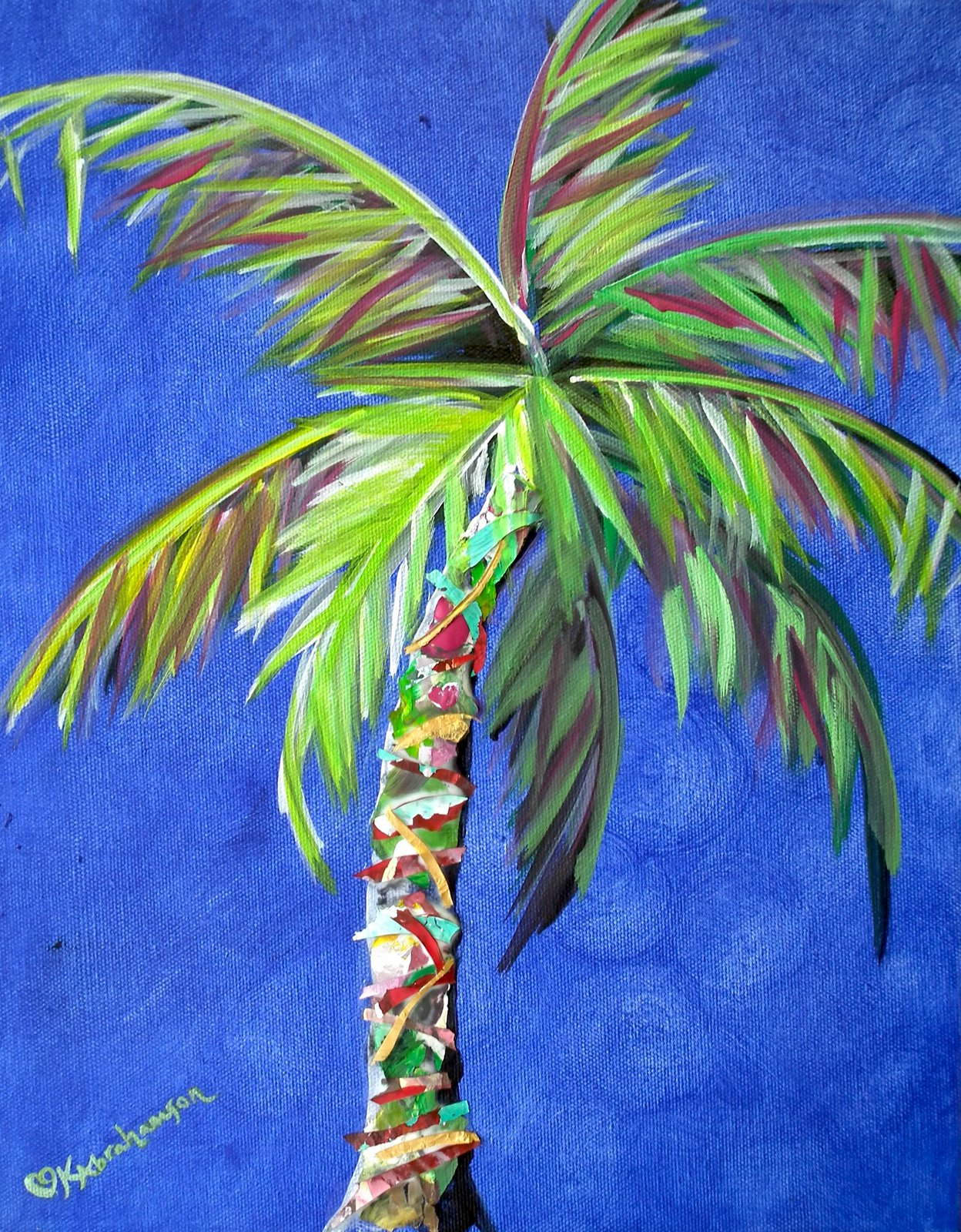 Kristen abrahamson contemporary fine art for Painting palm trees