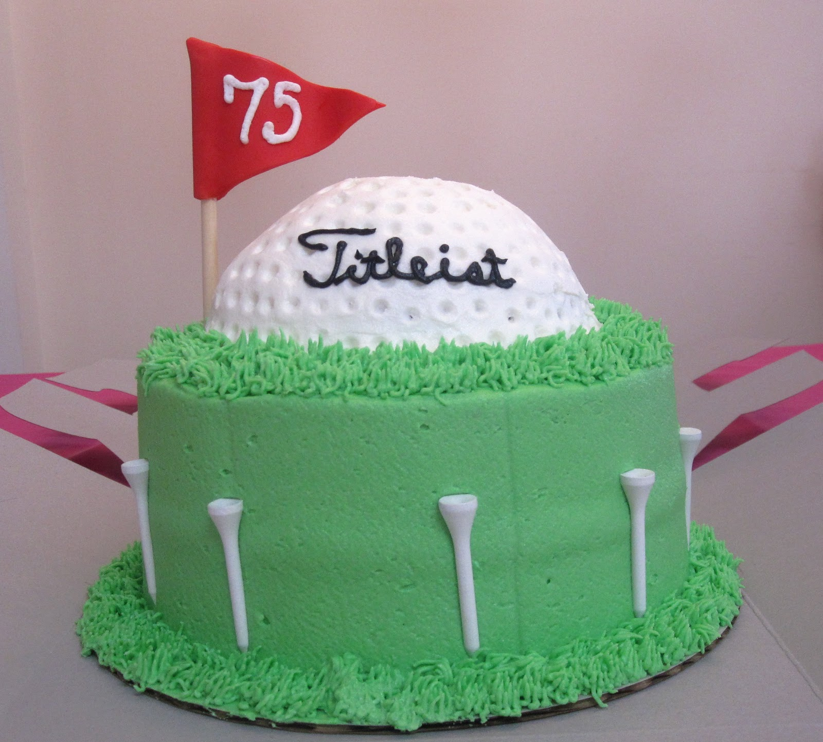 Welcome Golf Ball Cake