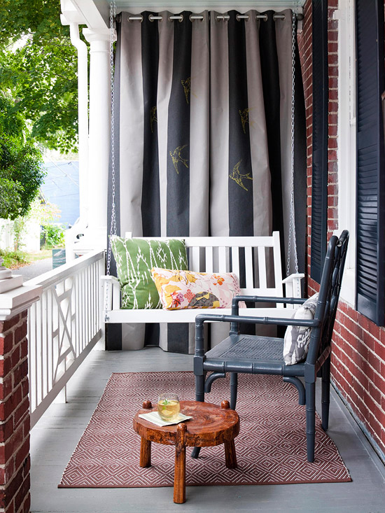 front porch makeovers for summer 2013 from bhg decorating idea. Black Bedroom Furniture Sets. Home Design Ideas
