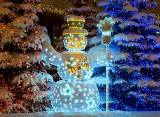How to decorate the garden at Christmas