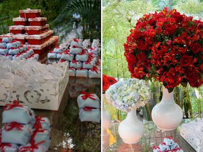 Fotos, dicas e imagens de Decoração de noivado vermelho e branco