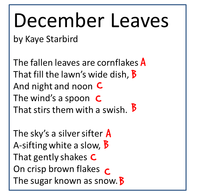 Rhyme Scheme Examples For Kids examples of imagery poems for kids ...