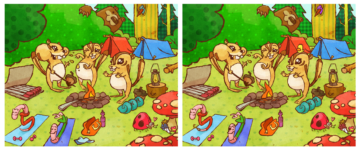 Anna Barrett Illustration: Spot The Difference!