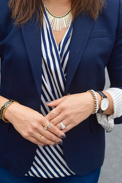 J Crew School Boy Blazer, Daniel Wellington Lady Scheffield watch