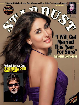 Kareena Kapoor Stardust - September 2012
