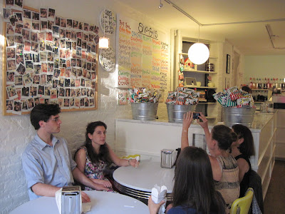 Patrons enjoy their Sno-balls treats at Imperial Woodpecker Sno-Ball a tasty treat that is New in New York