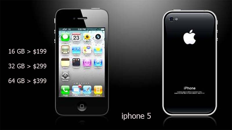 iphone 5 price apple presents three levels of price for iphone 5 ...