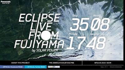 Eclipse anular de sol en vivo, 20 de Mayo de 2012