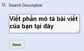 tu hoc lam seo voi blogspot the description