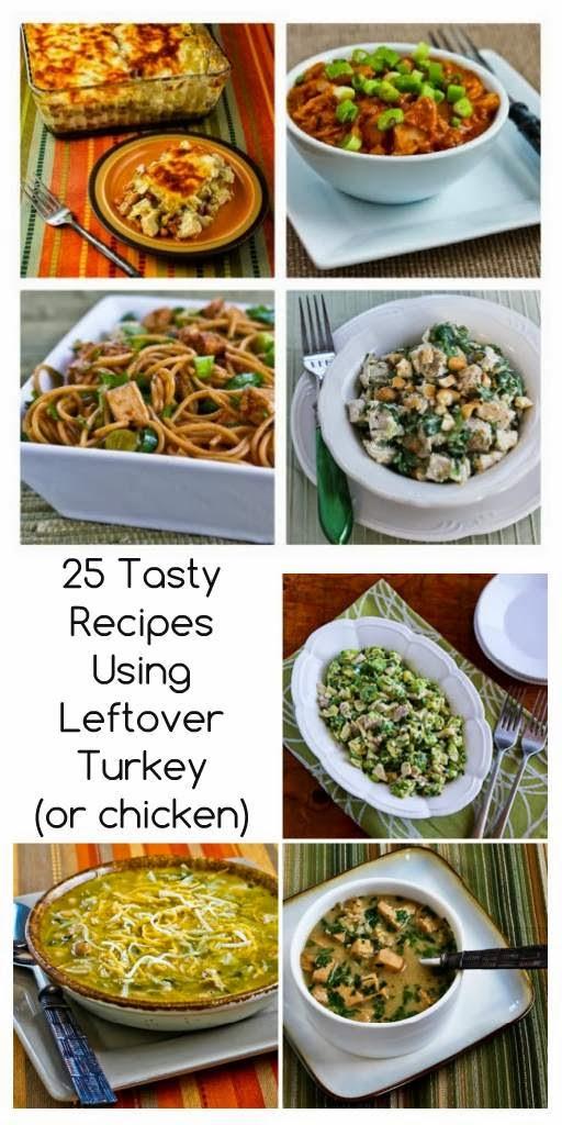 25 Tasty Recipes Using Leftover Turkey (or chicken!)