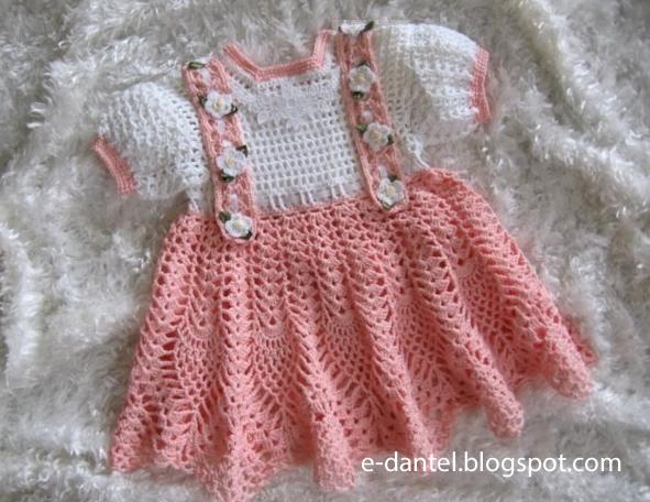 Kız Bebek Örgü ELbise Modelleri