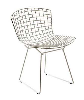 DESIGN WITHIN REACH BERTOIA SIDE CHAIR IN CHROME