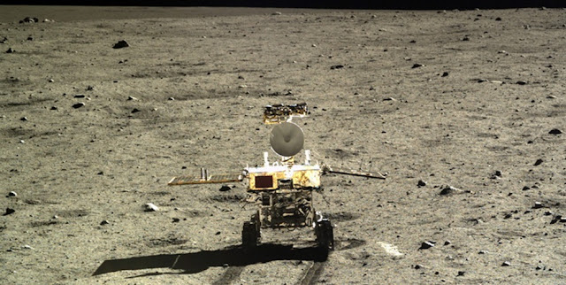 Chinese Yutu rover on the moon. Credit: CNSA
