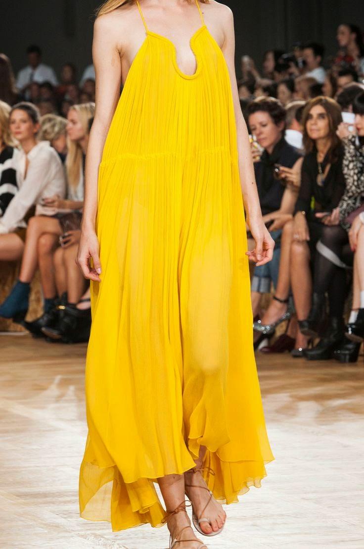 Tendências moda primavera-verão 2015 cor amarelo