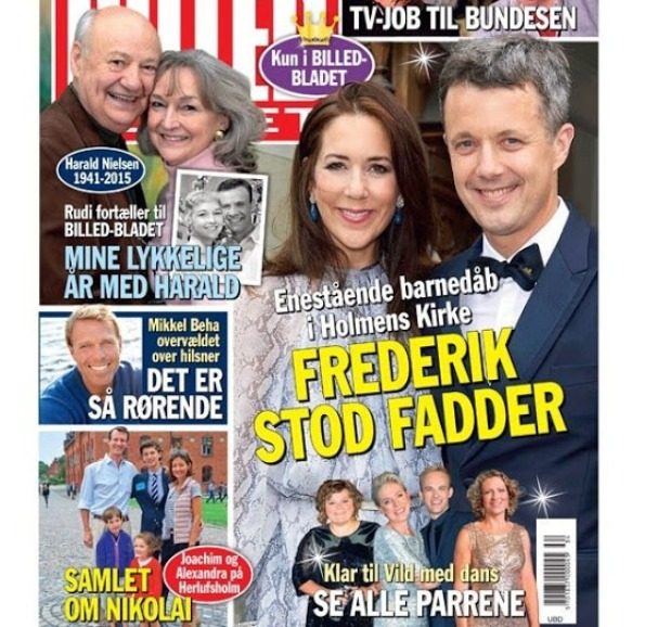 Princess Mary And Prince Frederik Attend A Baptism At Holmens Church