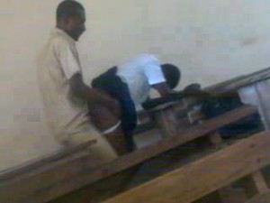 Ghana student naked with teacher
