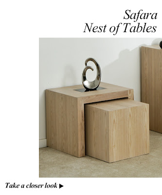 Safara Solid Wood Nest of Tables from Furniture123