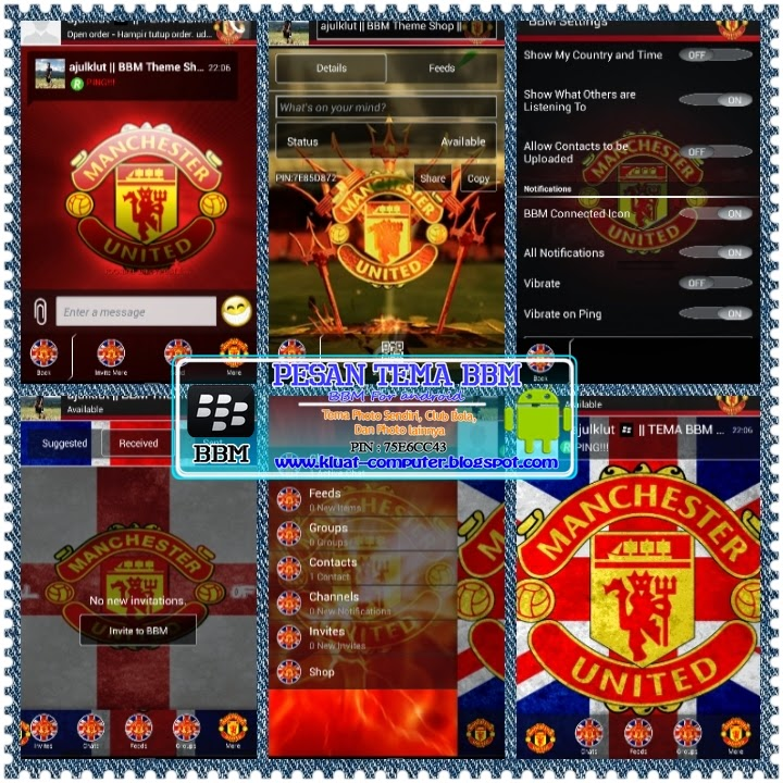 Download BBM MOd Manchester united