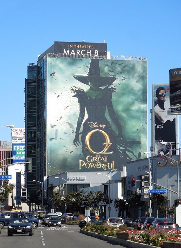 Oz Great Powerful movie billboard