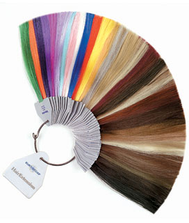 muestras de colores de tintes:
