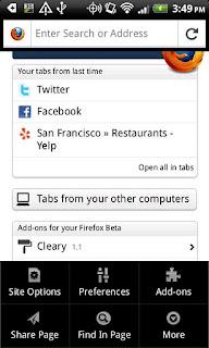 Mozilla Firefox 9.0 apk untuk Samsung galaxy mini | browser