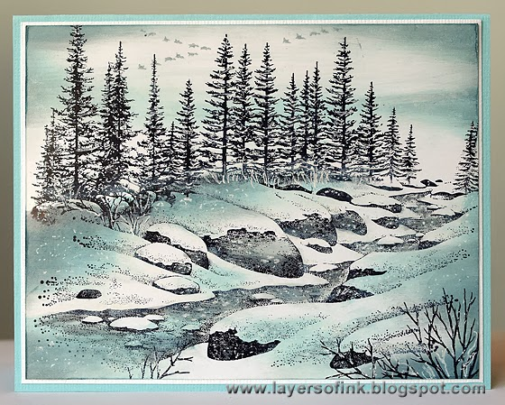 Winter Stream - Layers of ink