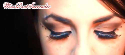 maquillaje para disfraz de caperucita roja ojos