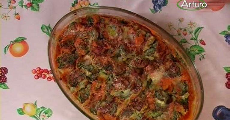 Ricette tv girandole di spinaci con pomodoro e ricotta - Pronto in tavola alice ...