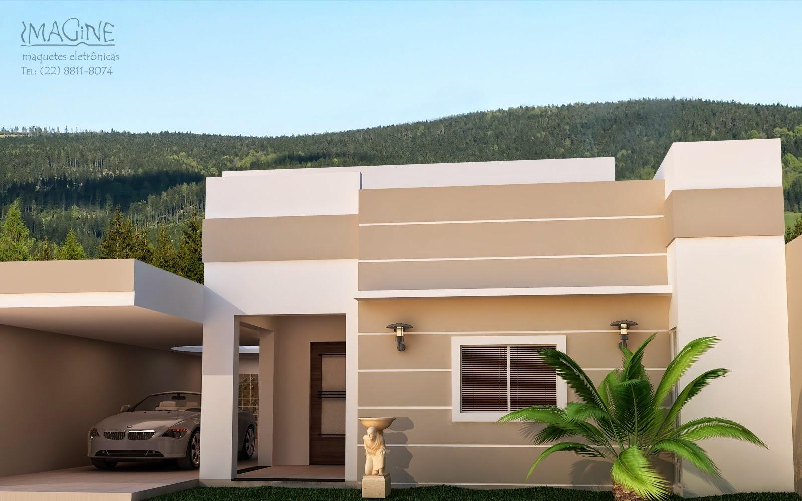 Fachadas de casas pequenas bonitas e modernas papo de for Fachadas de viviendas pequenas