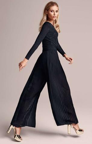 pantalón plisado negro H&M